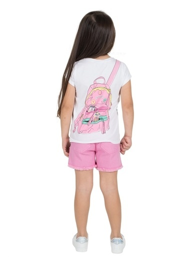 Silversun Kids Kız Çocuk Payet Detaylı Cepli Şort Sc 215334 Pembe